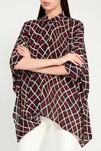 GUCCI   Свободная блузка с контрастным принтом   Clouty
