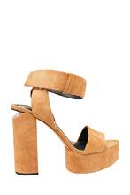 Alexander Wang | Замшевые босоножки с каблуком-столбиком | Clouty