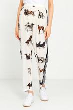 Stella McCartney | Шелковые брюки с принтом | Clouty