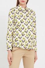 PRADA | Рубашка с оборкой и принтом | Clouty
