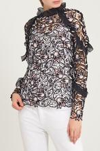 Self-Portrait | Ажурная блузка с лилиями | Clouty