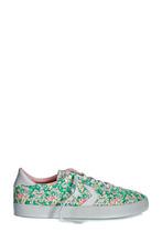 CONVERSE | Зеленые кеды с цветочным принтом | Clouty