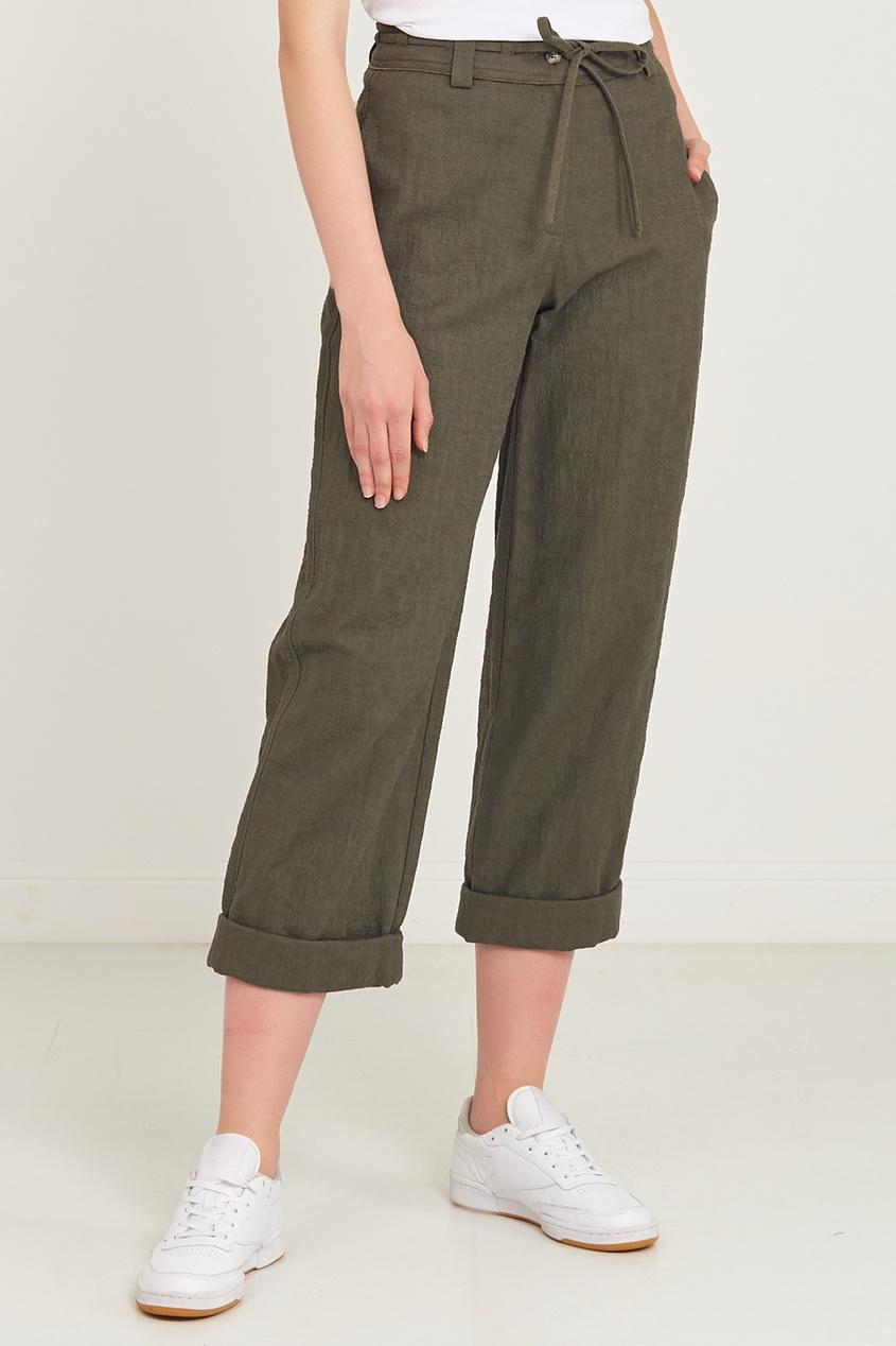 Diane Von Furstenberg | зеленый Брюки с завязкой на поясе | Clouty