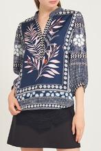 Diane Von Furstenberg | Шелковая блузка с комбинированным принтом | Clouty