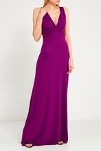 Etro   Длинное фиолетовое платье   Clouty