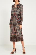 Vilshenko | Шелковое платье с принтом-орнаментом | Clouty