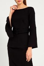 P.A.R.O.S.H. | Черная блузка с поясом | Clouty