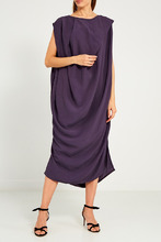 RICK OWENS | Асимметричное платье-миди | Clouty