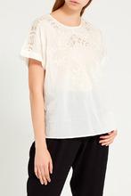 Gerard Darel   Хлопковая блузка с ажурной отделкой   Clouty