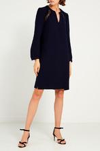 Gerard Darel | Синее платье с кружевной отделкой | Clouty