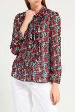 Gerard Darel   Хлопковая блузка с цветочным принтом   Clouty