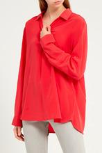 Gerard Darel   Красная блузка с отложным воротником   Clouty
