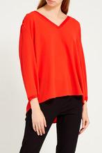 Gerard Darel   Красная блузка с V-вырезом   Clouty