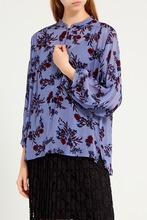 Gerard Darel   Голубая блузка с цветочным принтом   Clouty