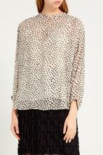 Gerard Darel   Тонкая блузка с контрастным принтом   Clouty