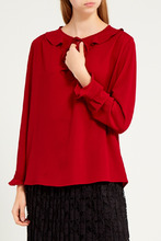 Gerard Darel   Красная блузка с воланами   Clouty