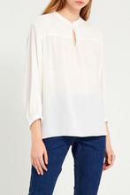 Gerard Darel   Белая блузка с мелкими сборками   Clouty