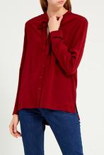 Gerard Darel   Красная шелковая блузка   Clouty