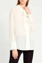 Gerard Darel   Шелковая блузка с оборками   Clouty