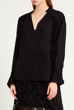 Gerard Darel   Черная блузка со сборками   Clouty