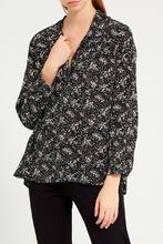 Gerard Darel   Черная блузка с контрастным принтом   Clouty