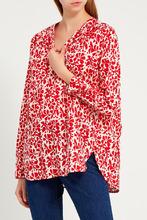 Gerard Darel   Блузка с красным цветочным принтом   Clouty