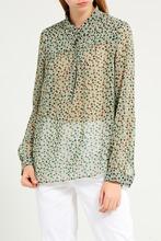 Gerard Darel   Зеленая блузка с цветочным принтом   Clouty