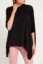 GUCCI   Черная асимметричная блузка   Clouty