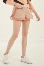 Elisabetta Franchi | Бежевые шорты с розовой тесьмой | Clouty