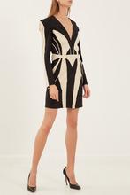 Elisabetta Franchi | Черное платье с контрастной отделкой | Clouty