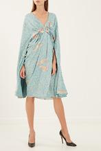 Elisabetta Franchi | Голубое платье с кейпом | Clouty