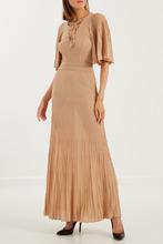 Elisabetta Franchi   Плиссированное платье макси   Clouty