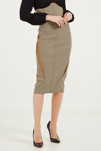Elisabetta Franchi | Зеленая юбка с фигурным верхом | Clouty