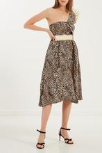 Elisabetta Franchi | Асимметричное платье с леопардовым принтом | Clouty