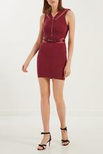 Elisabetta Franchi | Бордовое платье с контрастными вставками | Clouty