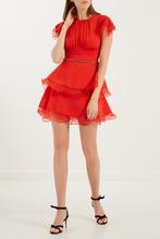 Elisabetta Franchi | Красное комбинированное платье | Clouty