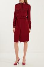 GUCCI | Бордовое платье с погонами | Clouty