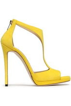 Jimmy Choo | Jimmy Choo Woman Lana Suede Platform Sandals Yellow Size 40 | Clouty