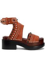 3.1 Phillip Lim | 3.1 Phillip Lim Woman Nashville Studded Suede Platform Sandals Brown Size 40 | Clouty