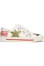 Marc Jacobs | Marc Jacobs Woman Printed Canvas Sneakers Off-white Size 37 | Clouty