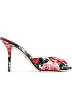 Dolce & Gabbana | Dolce & Gabbana Woman Floral-print Leather Sandals White Size 37 | Clouty