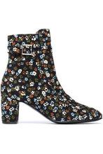 Newbark   Newbark Woman Printed Corduroy Ankle Boots Black Size 8   Clouty