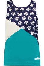 adidas by Stella McCartney | Adidas By Stella Mccartney Woman Run Paneled Printed Stretch Tank Turquoise Size XS | Clouty