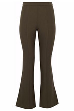 Cinq A Sept | Cinq A Sept Woman Stretch-ponte Flared Pants Army Green Size 10 | Clouty