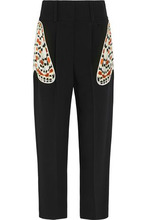 GIVENCHY | Givenchy Woman Tapered Pants In Black Crepe With Butterfly Pockets Black Size 36 | Clouty
