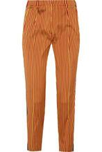 Etro | Etro Woman Striped Silk Straight-leg Pants Yellow Size 40 | Clouty