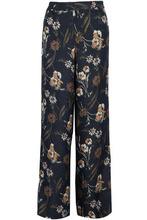 Derek Lam 10 Crosby | Derek Lam 10 Crosby Woman Floral-print Matelasse Silk-blend Wide-leg Pants Black Size 10 | Clouty