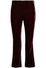 Derek Lam 10 Crosby | Derek Lam 10 Crosby Woman Velvet Flared Pants Claret Size 8 | Clouty