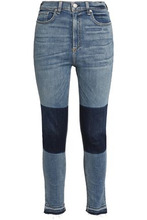 RAG & BONE | Rag & Bone/jean Woman Two-tone High-rise Skinny Jeans Mid Denim Size 25 | Clouty
