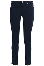 AG Jeans | Ag Jeans Woman The Legging Ankle Textured Cotton-blend Skinny Pants Midnight Blue Size 26 | Clouty